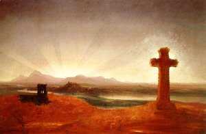 Thomas Cole - Cross at Sunset