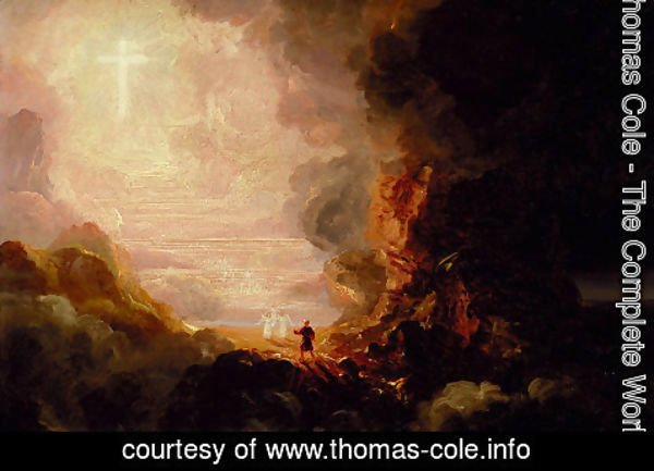 Thomas Cole - The Cross and the World: Study for 'The Pilgrim of the Cross at the End of His Journey'