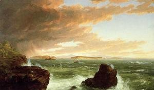 Thomas Cole - View Across Frenchman's Bay from Mount Desert Island, After a Squall