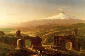 Thomas Cole - Mount Etna from Taormina