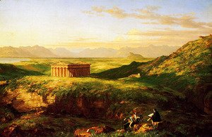 Thomas Cole - The Temple of Segesta with the Artist Sketching