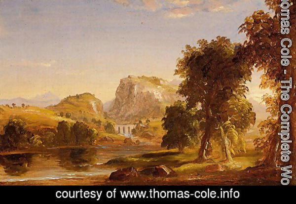 Thomas Cole - Sketch for 'Dream of Arcadia'