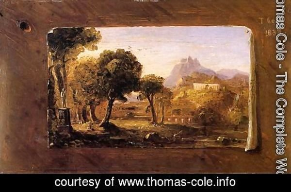 Thomas Cole - Study for 'Dream of Arcadia'