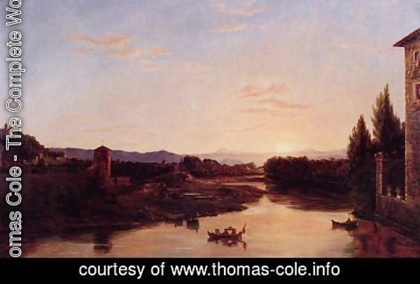 Thomas Cole - Sunset of the Arno