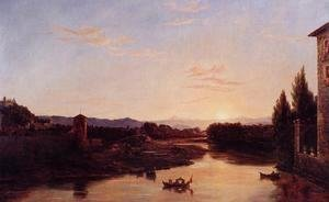 Sunset of the Arno