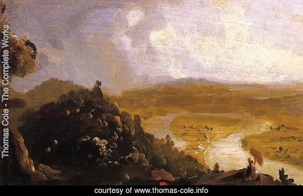 Sketch for 'View from Mount Holyoke, Northampton, Massachusetts, after a Thunderstorm' (The Oxbow)