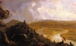 Thomas Cole - Sketch for 'View from Mount Holyoke, Northampton, Massachusetts, after a Thunderstorm' (The Oxbow)