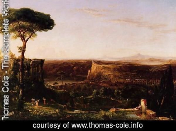 Thomas Cole - Italian Scene, Composition