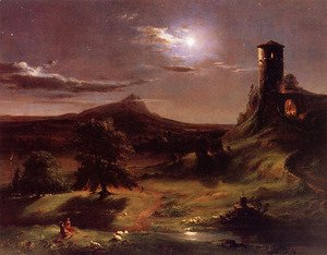 Thomas Cole - Moonlight