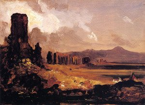 Thomas Cole - Campagna di Roma (study for 'Aqueduct near Rome')