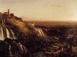 Thomas Cole - The Cascatelli, Tivoli, Looking Towards Rome