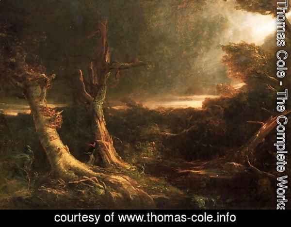 Thomas Cole - A Tornado in the Wilderness