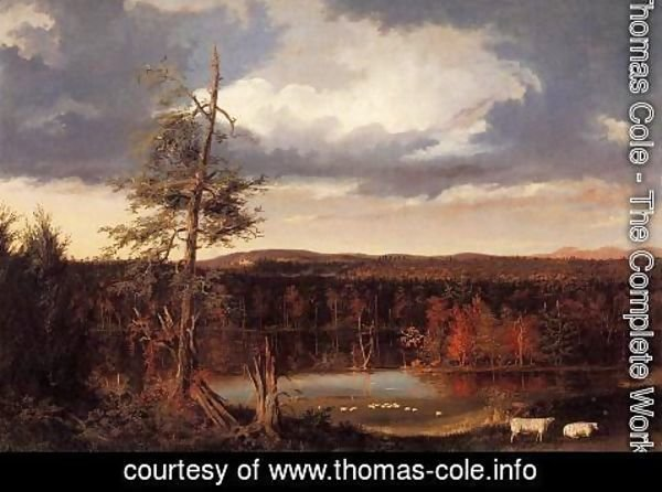Thomas Cole - Landscape, the Seat of Mr. Featherstonhaugh in the Distance