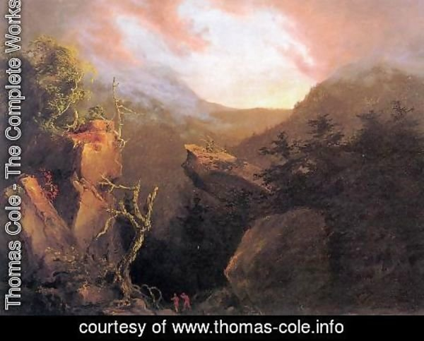 Thomas Cole - Mountain Sunrise, Catskill