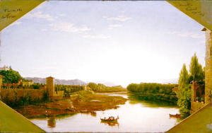 Thomas Cole - View on the Arno near Florence 1837