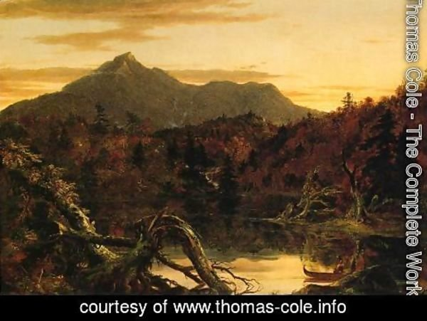 Thomas Cole - Autumn Twilight, View of Corway Peak, 1834