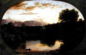 Sunset, View on Catskill Creek, 1833