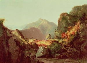 Thomas Cole - Scene from The Last of the Mohicans  1826