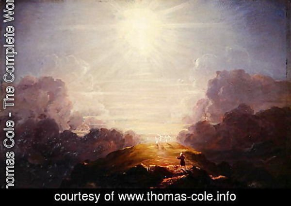 Thomas Cole - Study for the Cross and the World, c.1846