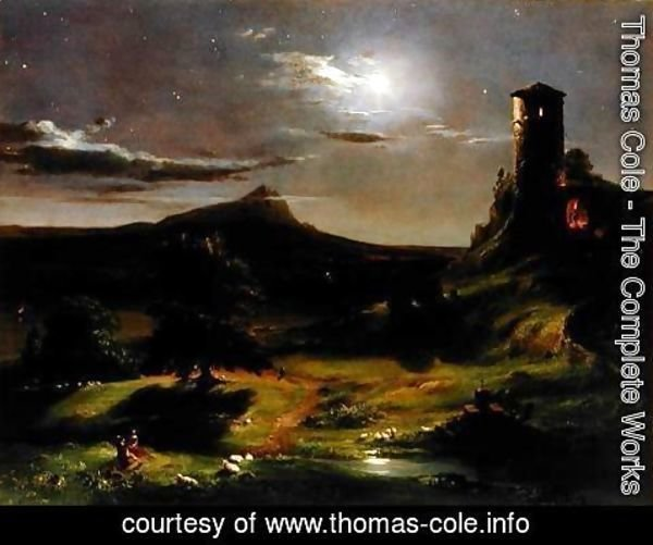 Thomas Cole - Landscape (Moonlight), c.1833-34