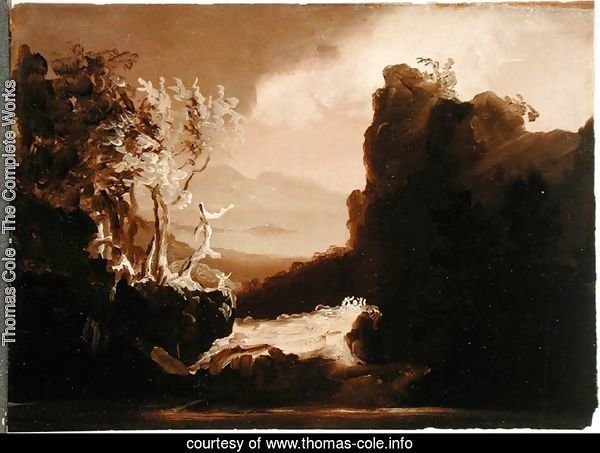 Romantic Landscape (Last of the Mohicans), 1827