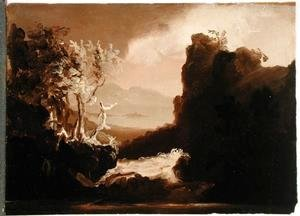 Thomas Cole - Romantic Landscape (Last of the Mohicans), 1827
