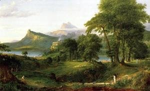 Thomas Cole - The Course of Empire: The Arcadian or Pastoral State c.1836