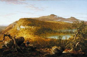 A View of the Two Lakes and Mountain House, Catskill Mountains  1844