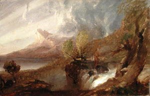 Thomas Cole - Study for a Wild Scene 1831