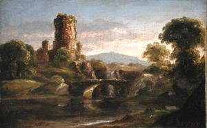 Thomas Cole - Castle and River