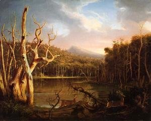 Thomas Cole - Lake with Dead Trees