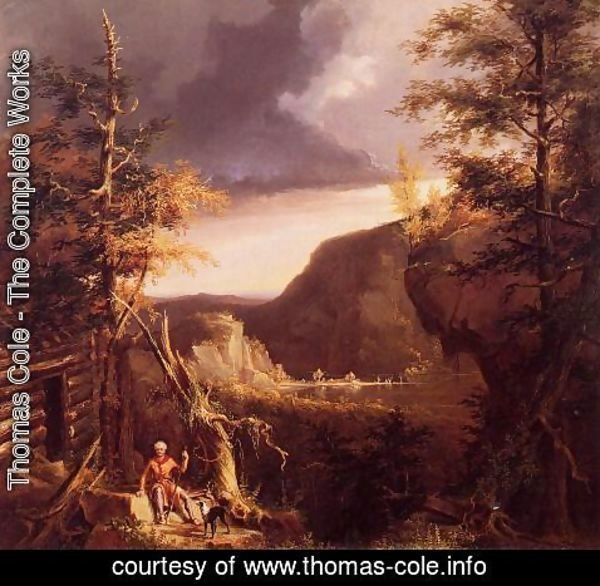 Thomas Cole - Daniel Boone Sitting at the Door of His Cabin on the Great Osage Lake, Kentucky