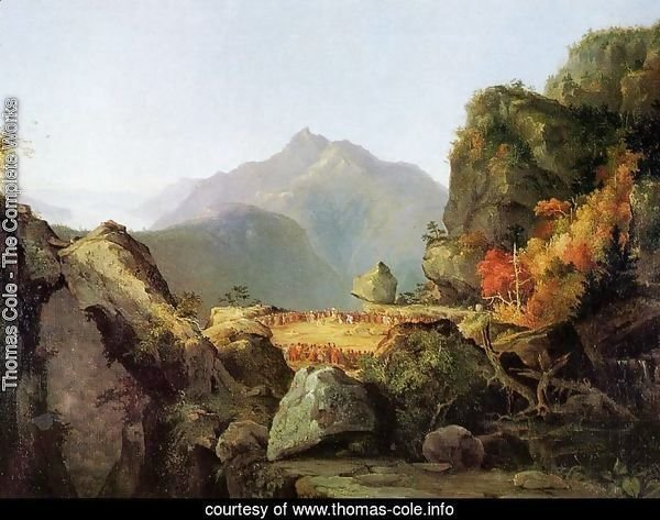 Landscape Scene from 'The Last of the Mohicans'