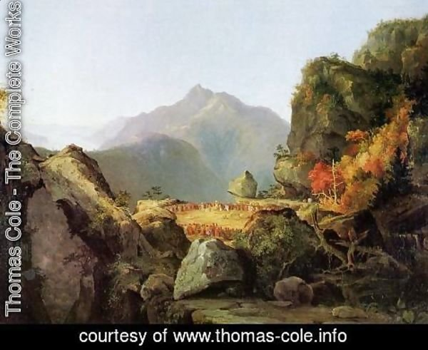 Thomas Cole - Landscape Scene from 'The Last of the Mohicans'