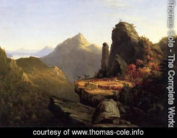 Thomas Cole - Scene from 'The Last of the Mohicans': Cora Kneeling at the Feet of Tanemund