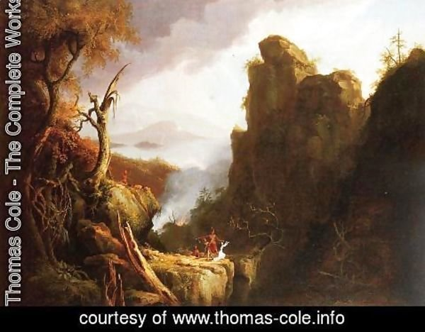 Thomas Cole - Indian Sacrifice