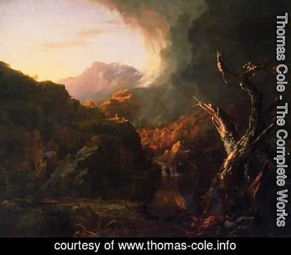 Thomas Cole - Landscape with Dead Trees