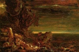 Thomas Cole - The Cross and the World: Study for 'The Pilgrim of the World at the End of His Journey'