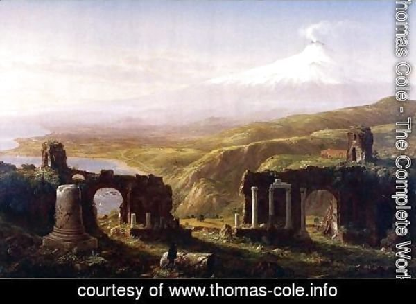 Thomas Cole - Mount Aetna from Taormina, Sicily