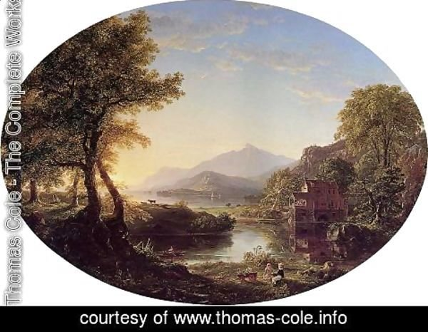 Thomas Cole - The Old Mill at Sunset
