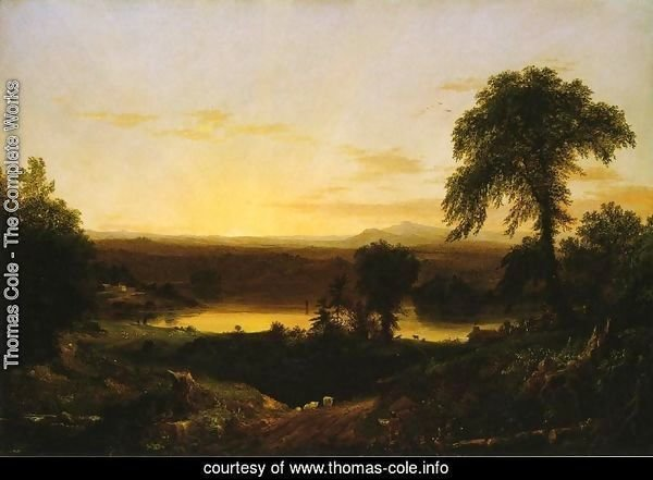 Summer Twilight: A Recollection of a Scene in New England