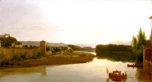 Thomas Cole - Sunset on the Arno
