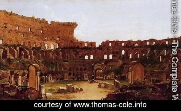Thomas Cole - Interior of the Colosseum, Rome