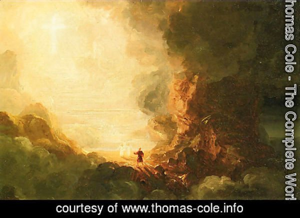 Thomas Cole - The Cross and the World Study for -The Pilgrim of the Cross at the End of His Journey