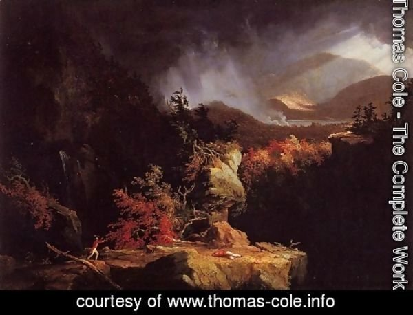 Thomas Cole - View near Ticonderoga