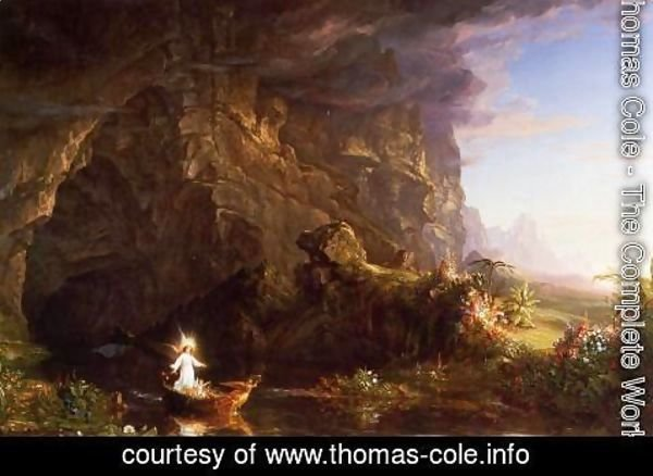 Thomas Cole - The Voyage of Life, Childhood