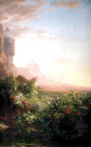 Thomas Cole - The Voyage of Life Childhood (detail)