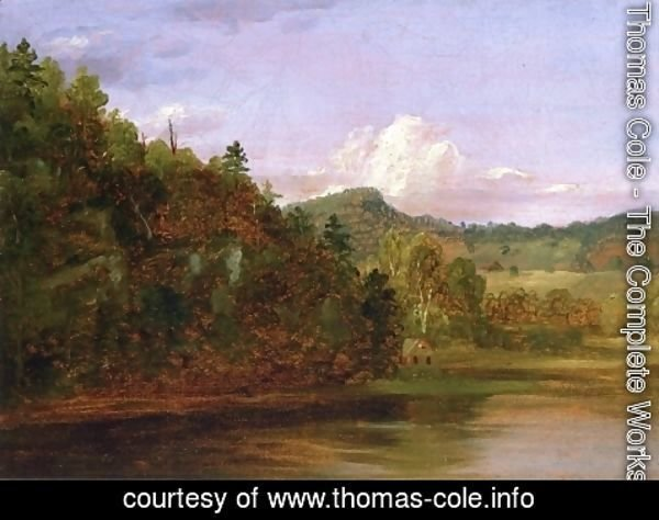 Thomas Cole - Landscape (American Lake in Summer)