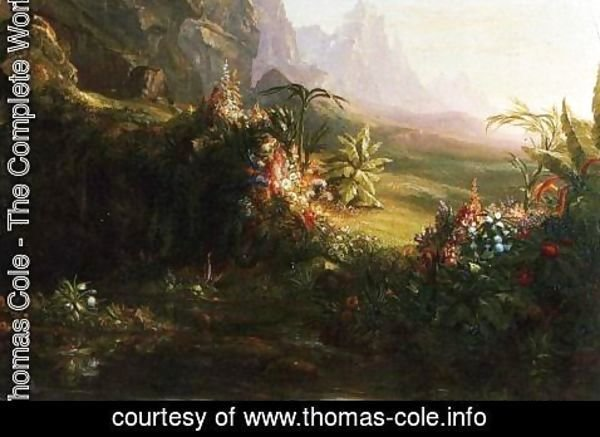 Thomas Cole - The Voyage of Life Childhood (detail) 3
