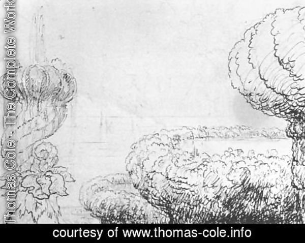 Thomas Cole - Pen and pencil drawing